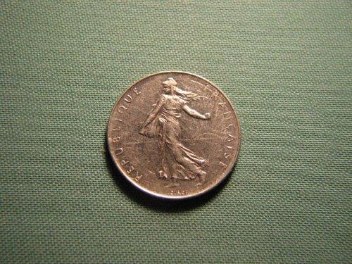 France 1978 1 franc coin