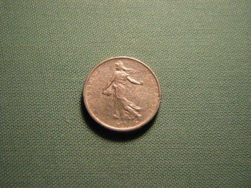 France 1965 1/2 franc coin