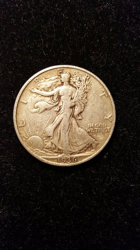 1936 Walking Liberty Half
