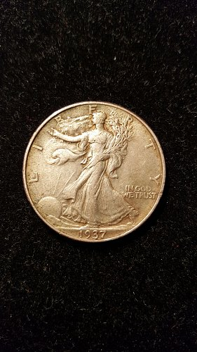 1937 Walking Liberty Half