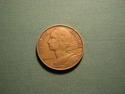 France 1967 20 centimes coin