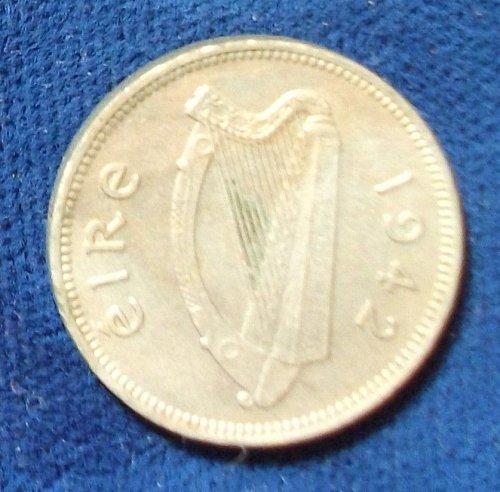 1942 Ireland Threepence UNC