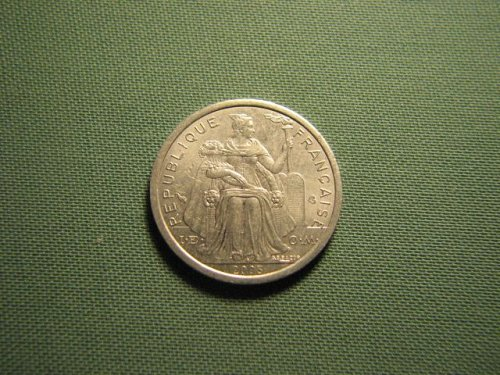 French Polynesia 2003 1 franc coin