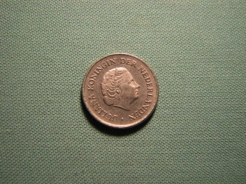 Netherlands 1977 25 cents coin