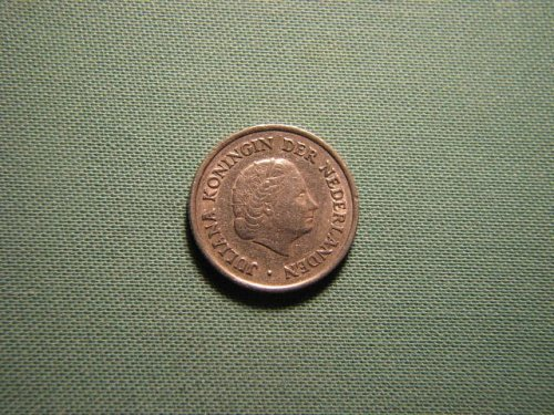Netherlands 1950 25 cents coin