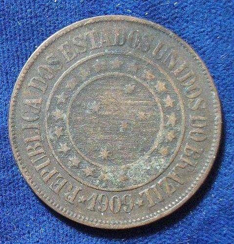 1909 Brazil 40 Reis Fine
