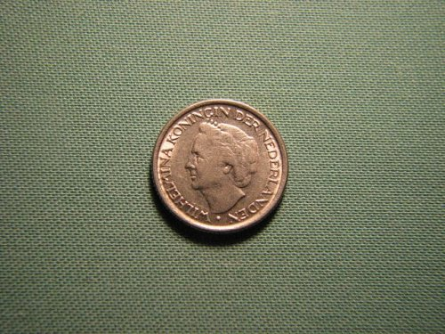 Netherlands 1948 25 cents coin