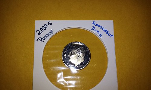 2000-S Roosevelt Dime out of a United States Mint Proof Set
