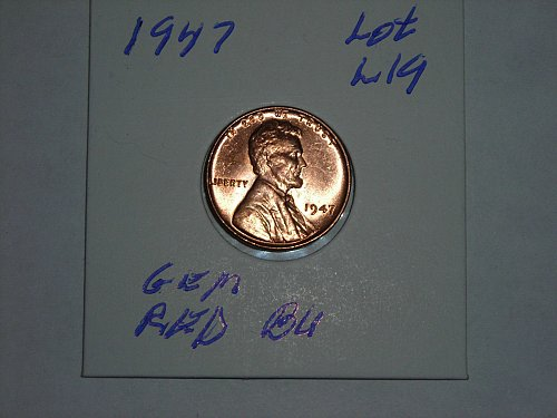 1947 wheat penny gem b/u