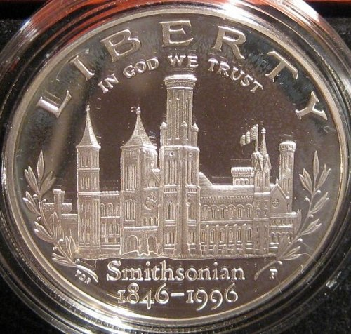 Smithsonian Institution 150th Anniversary Commem Dollar