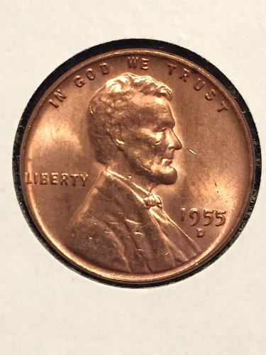 1955 D Wheat Cent AU58