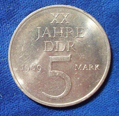 1969 Germany/DDR 5 Mark AU