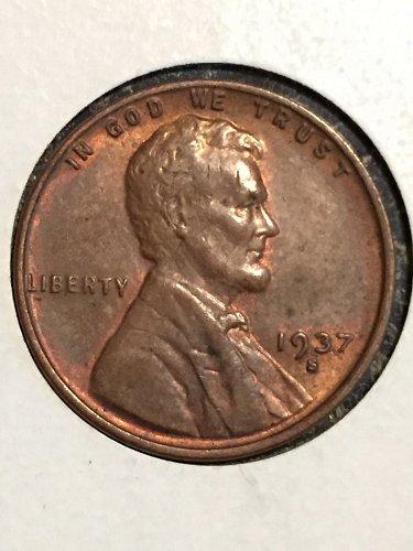 1937 S Wheat Penny