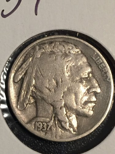 1937 P Buffalo Nickel