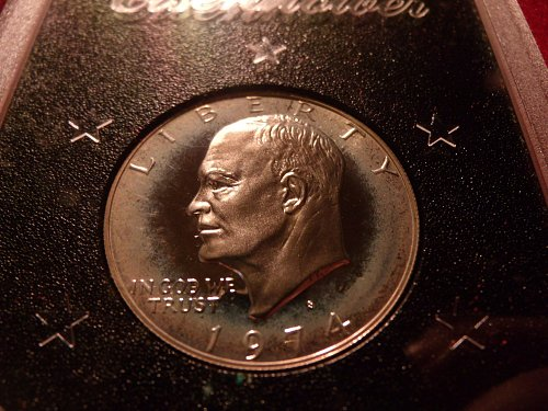 1974 S Silver Clad Proof Brown Ike