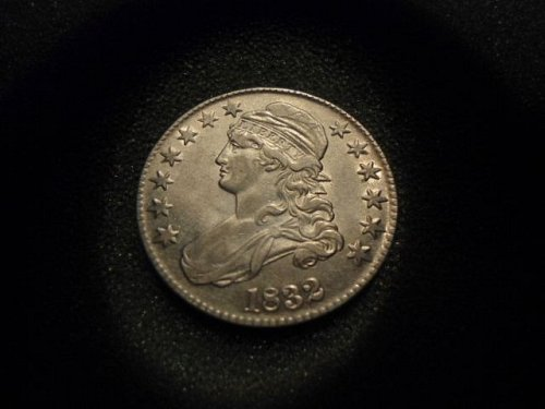 1832 Capped Bust Half Dollar. EF to AU. . . (A+ Coin)