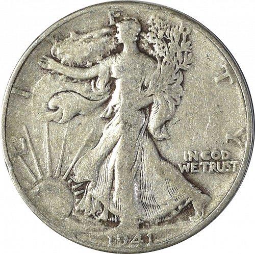 1941 Walking Liberty Half Dollar, (Item 137)