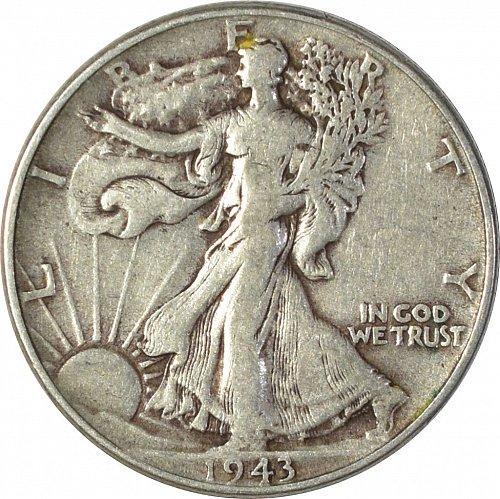 1943 Walking Liberty Half Dollar,  (Item 138)