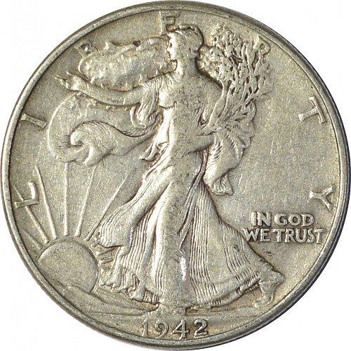 1942 Walking Liberty Half Dollar, (Item 139)