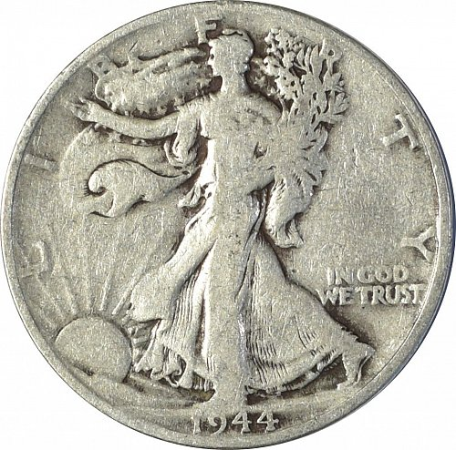 1944 D Walking Liberty Half Dollar, (Item 147)