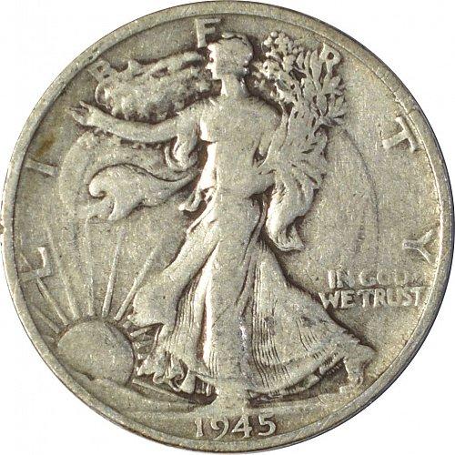 1945 S Walking Liberty Half Dollar,  (Item 148)