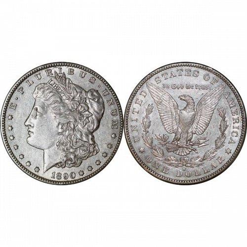 1890 S Morgan Silver Dollar - AU