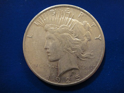 1925-S Peace Dollar Extra Fine-40 Nice Strike And Hints Of Luster!