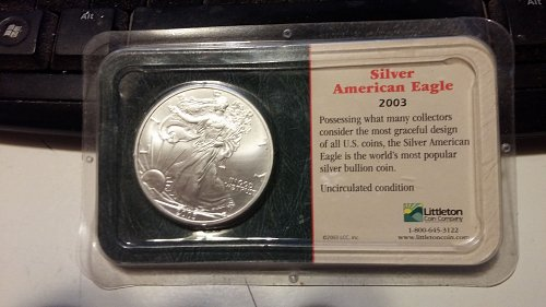 2003 American Silver Eagle Littleton coin company