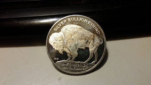 One troy ounce Buffalo Round