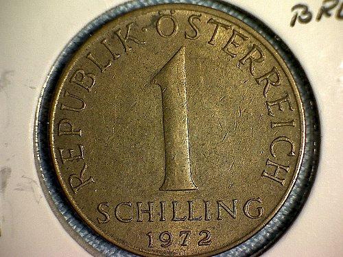 1972 AUSTRIA ONE SCHILLING