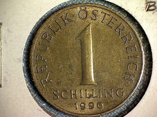 1990 AUSTRIA ONE SCHILLING