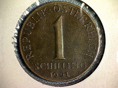1961 AUSTRIA ONE SCHILLING