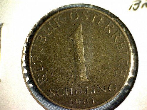 1981 AUSTRIA ONE SCHILLING
