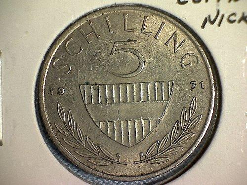 1971 AUSTRIA FIVE SCHILLING