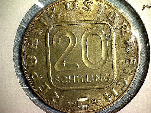 1995 AUSTRIA TWENTY SCHILLINGS