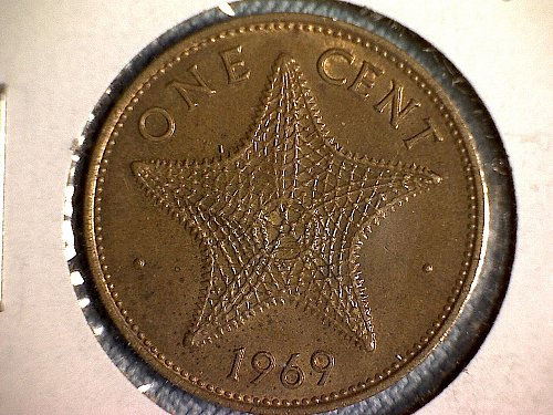1965 BAHAMAS ONE CENT