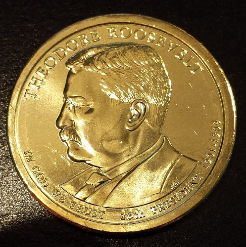 2013-D Theodore Roosevelt Presidential Dollar - From Mint Roll! (6180)