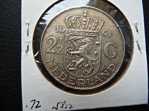 1961 Nederlanden  2 1/2 Gulden