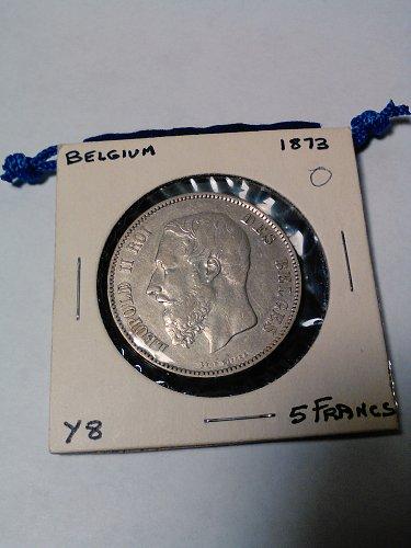1863 SILVER BELGIUM 5 FRANCS