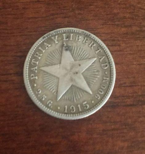 3-cuba coins 1915 V centavos,1920 V centavos,1949 1centavos