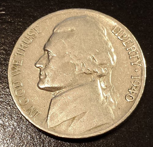 1940 Jefferson Nickel (6191)