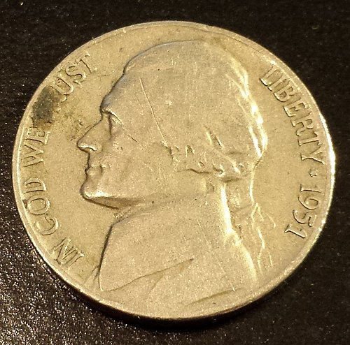 1951 Jefferson Nickel (6198)