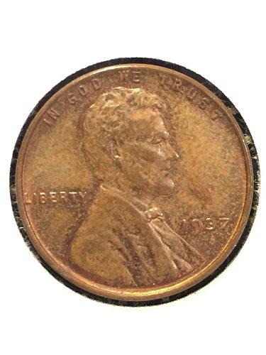 1937 P Wheat cent