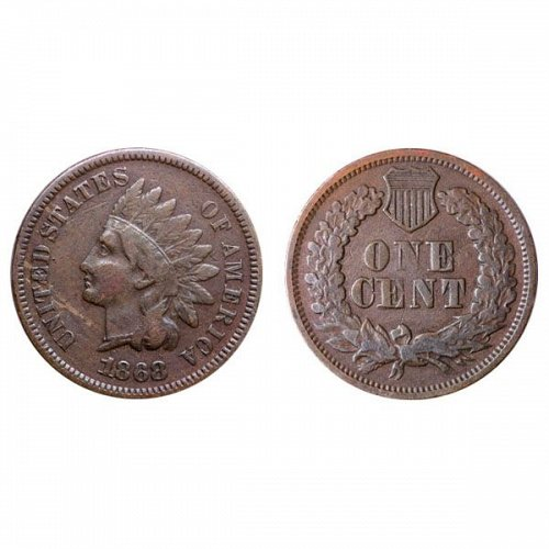 1868 Indian Head Cent - Fine