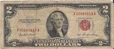 2-1953 and 1953b 2 dollars bills