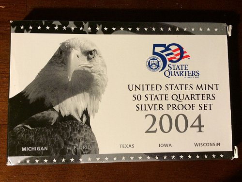 2004 US Mint 50 State Quarters Silver Proof Set