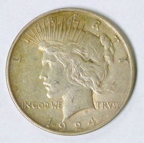 1924 Peace Silver Dollar Philadelphia Mint