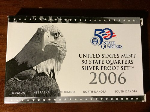 2006 US Mint 50 State Quarters Silver Proof Set