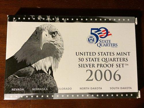 2006 US Mint 50 State Quarters Silver Proof Set