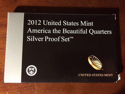 2012 US Mint America the Beautiful Quarters Silver Proof Set